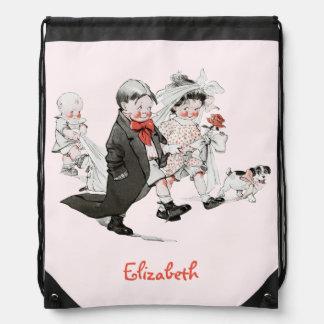 Funny Valentine Vintage Wedding Backpack