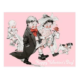 Funny Valentine Vintage Wedding Postcard