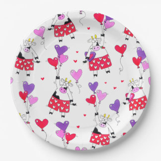 Funny Valentine's Day Lover Paper Plate