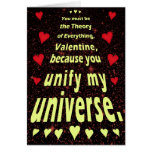Funny Valentine's Day Outer Space Geek Love Greeting Card