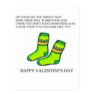 funny valentine's day poem postcard