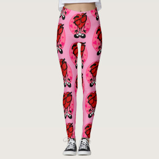 FUNNY VALENTINE'S DAY RED HEART PINK LEGGINGS