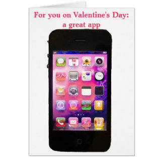 Funny Valentine's Day with iPhone App Card