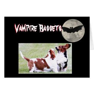 "Funny ""Vampire Bassets"" Halloween Card"