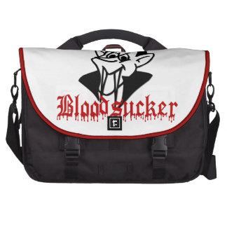 Funny Vampire Bloodsucker Cartoon for Halloween Laptop Bag
