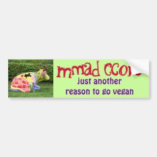 funny vegan bumper sticker