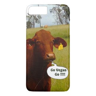Funny Vegan cow  iPhone 7 Plus iPhone 7 Plus Case