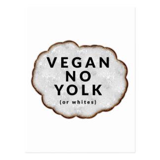 Funny Vegan No Yolk Postcards