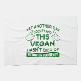 Funny Vegan T-shirt Kitchen Towel