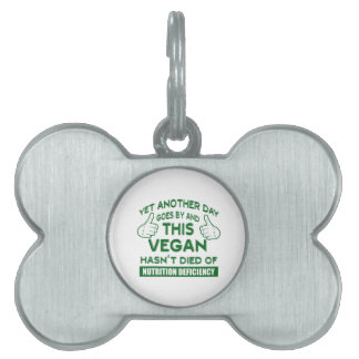 Funny Vegan T-shirt Pet Name Tag