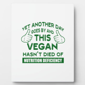 Funny Vegan T-shirt Plaque