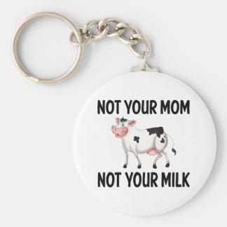 Funny Vegan, Vegetarian Cow / Milk Quote Keychain