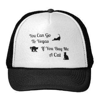 Funny Vegas Cat Trucker Hat