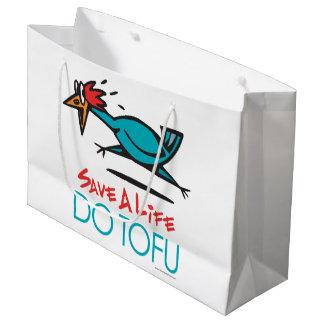 Funny Vegetarian, Vegan DO TOFU Large Gift Bag