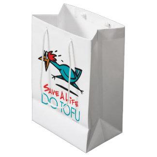 Funny Vegetarian, Vegan DO TOFU Medium Gift Bag