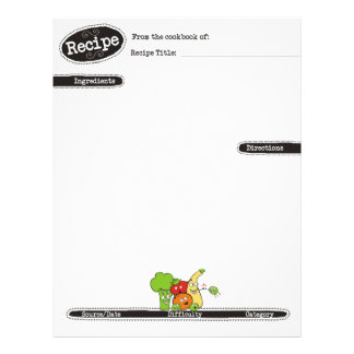 funny veggies fruits high five recipe letterhead