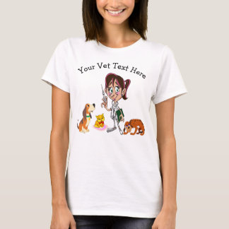 Funny Vet Tee Shirts for Her with Your Text