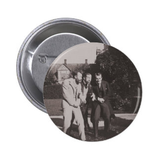Funny Victorian Era Men Making Funny Face 2 Inch Round Button
