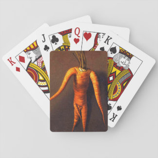 Funny Vintage 1699 Carrot Man Art on Playing Cards