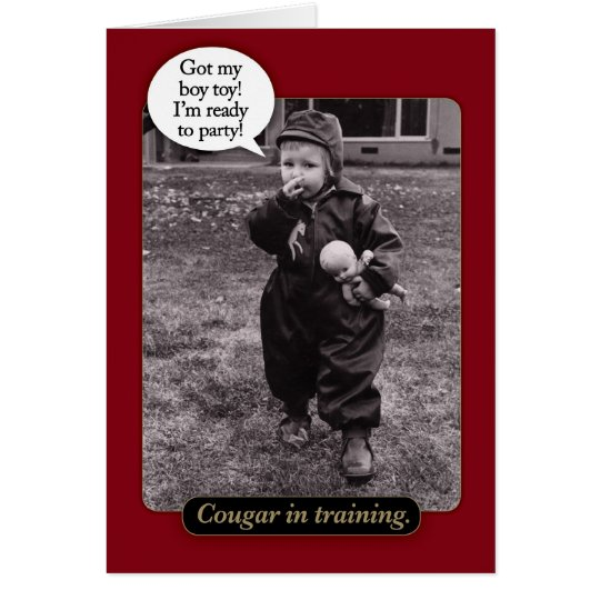 Cougar 50th Birthday Card