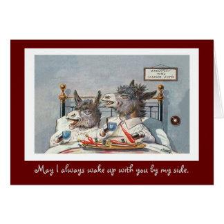 Funny Vintage Animal Valentine's Day Card