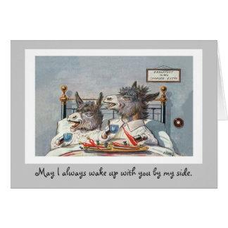 Funny Vintage Animals Anniversary Card