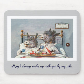 Funny Vintage Animals - Two Donkeys Mouse Pad