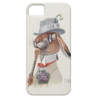Funny Vintage Anthropomorphic Rabbit Case For The iPhone 5