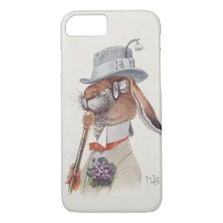 Funny Vintage Anthropomorphic Rabbit iPhone 8/7 Case