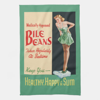 "Funny Vintage ""Bile Beans"" Advertisement Kitchen Towel"