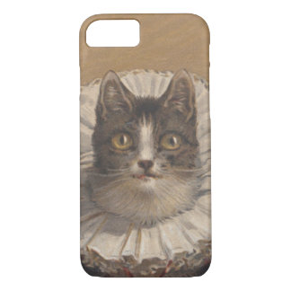 Funny Vintage Edwardian Cat Cell Phone Case