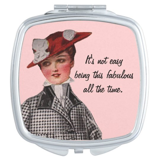 Funny Vintage Fabulous Woman Mirror For Makeup