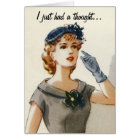 Funny vintage fashion greeting card