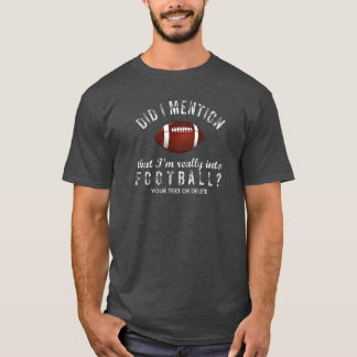 Funny Vintage Football Sports Fanatic Personalized T-Shirt