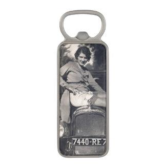 Funny Vintage Girl on Car Magnetic Bottle Opener