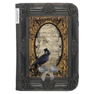 Funny vintage Gothic wedding crow Kindle Keyboard Case