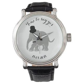 Funny Vintage Groom Encouragement Elephant Watch