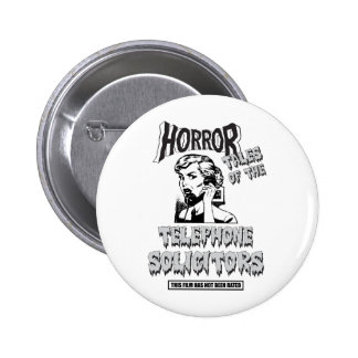 Funny Vintage Horror Movie Pinback Buttons