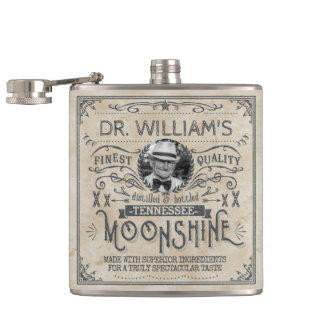 Funny Vintage Moonshine Hillbilly Medicine Custom Flask