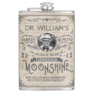 Funny Vintage Moonshine Hillbilly Medicine Custom Flasks