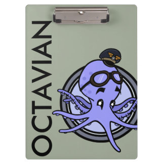 FUNNY VINTAGE OCTOPUS PILOT CLIPBOARD
