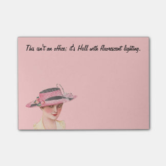 Funny Vintage Office Humor Post-it Notes
