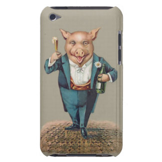 Funny Vintage Partying Pig - Cute Animal Unique iPod Case-Mate Cases
