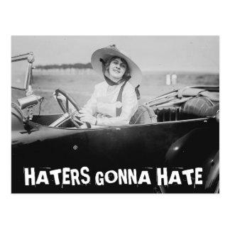 Funny Vintage postcards, HATERS GONNA HATE Postcard