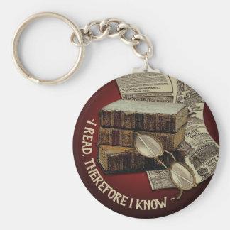 Funny Vintage Reading Keychain