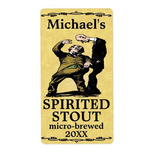 Funny Vintage Spirited Stout Beer Label