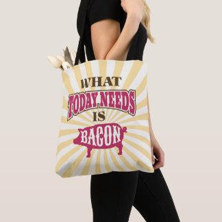 Funny Vintage Style Bacon Meme Tote Bag