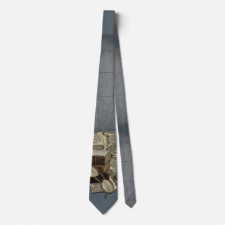 Funny Vintage Style Reading Books Tie
