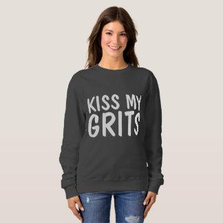 Funny Vintage T-shirts, KISS MY GRITS Sweatshirt
