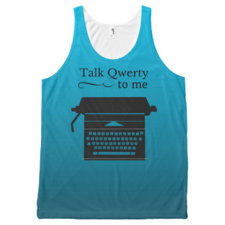 Funny Vintage Typewriter Geek All-Over-Print Tank Top